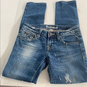 Women's Anoname Light Wash Ripped Jeans Size 25